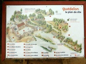Map of Guédelon site for the visit