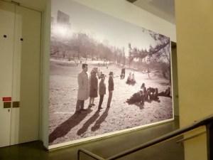 Entrance photo outside Garry Winogrand exhibit Jeu de Paume 2014