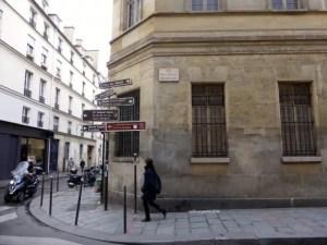 Corner of Rue des Francs Bourgeois street of Carnavalet's new entrance