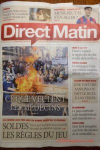 Direct Matin cover for January 7 Pourquoi is about invention of tin can