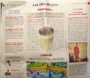 Page Pourquoi from Direct Matin about the invention of the tin can by Nicolas Appert