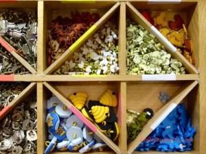 box of assorted buttons Aiguille en Fete 2015
