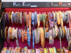 rolls of ribbons at Aiguille en Fete