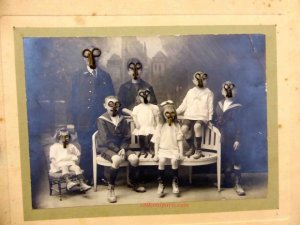 Vintage Photograph faces and eyes accented by hooks Aiguille en Fete