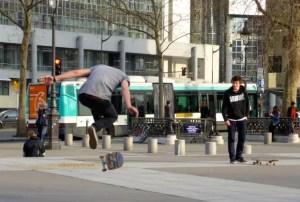 Bastille skateboarding