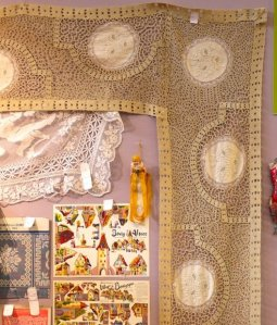 Old Lace, one of the stand at February's needlework fair, Aiguille en Fete