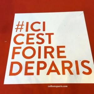 """The hashtag for Foire de Paris (or in French """"mot-dièse)"""
