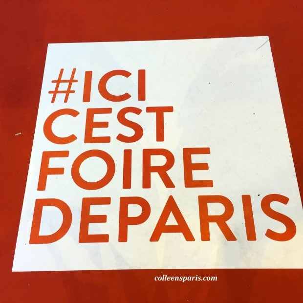 "The hashtag for Foire de Paris (or in French ""mot-dièse)"