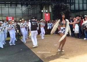 Foire de Paris Theme 2015 Summer Fest and the Tropics parade brass drums