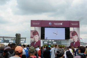 Watch the show on the screen and live in the sky Le Bourget Paris Air Show