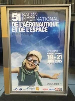 Poster for the 51st Salon International de l'Aéronautique et de l'espace