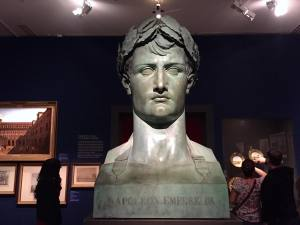 Front on view of Bertolini's idealized bust of Napoleon