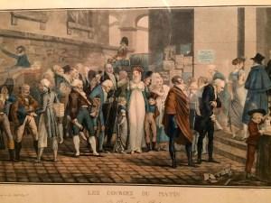 Illustration of Debucourt showing the clothing styles of the Napoleon era