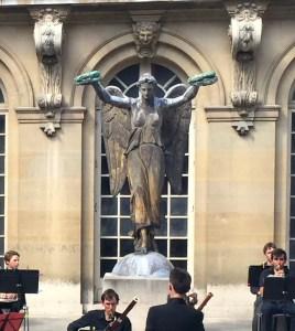 Original Statue de la Victoire once found atop the fountain at Place du Châtelet in Carnavalet Museum garden