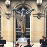 Original Statue de la Victoire found atop the fountain at Place du Châtelet in Carnavalet Museum garden