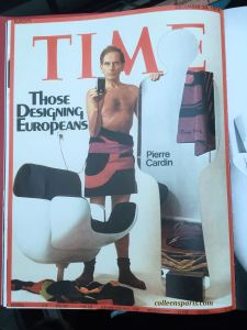 Cover of Time magazine Pierre Cardin with various creations