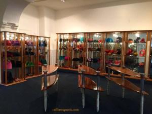 Accessories on ground floor of Pierre Cardin Museum
