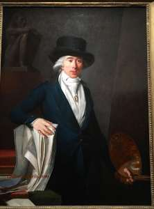 Self-portrait of Pierre Le Brun (1795), Art dealer, great nephew of Louis XIV's court painter, Charles Le Brun, renounced her during the French Revolution