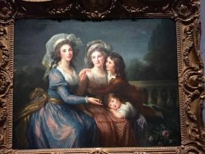 The Marquise de Pezay, born Caroline de Murat and the Marquise de Rougé, born Victurnienne Delphine Nathalie de Rochecouart, with her sons, Alexis Bonabes Louis Victurnien and Adrien Gabriel Victurnien (1787) shown at the 1787 Salon, Grand Palais, Paris