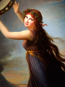 Lady Hamilton mythological figure of a Bacchus dancer in front of Mount Vesuvius (1792) Naples was the center of an Antiquity renaissance acting the part of a Neapolitan dancer one finds on antique vases