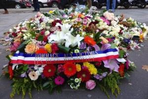 Bataclan. Wreath from Les Gens du Voyages (Gypsies)