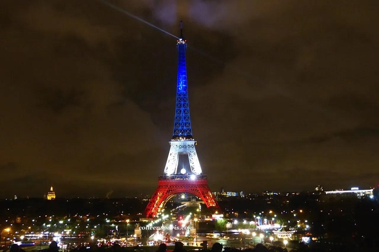 Eiffel red white blue 866