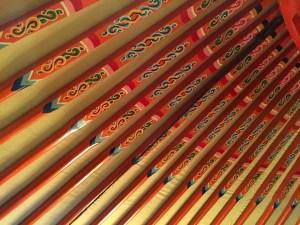 Painted yurt ceiling at Musée de l'Homme