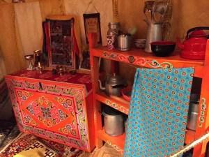 Yurt kitchen at Musée de l'Homme
