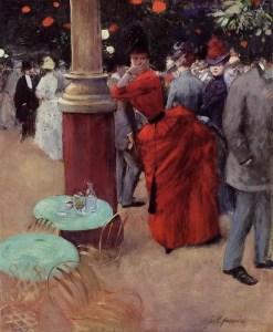 Jean-Louis Forain, Au jardin de Paris, 1884, private collection©Christie's Images/Bridgman images