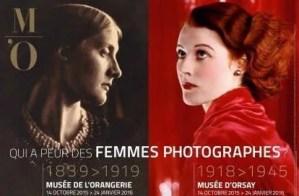 Affiche poster of two part exhibit Qui a Peur des femmes photographes