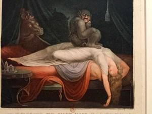The Nightmare 1782, Laurede after johann Heinrich Füssli (1741-1825) - sold to his Majesty under the Arches of the Royal Palace Fantastique, Petit Palais, Paris
