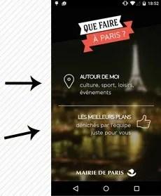 Image of application download for Que Faire a Paris