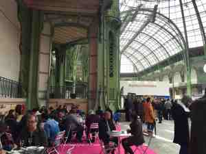 Tables/chairs and bar style counters are available around the event. Taste of Paris Grand Palais