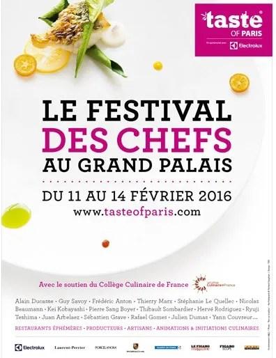 Taste of Paris 2016 poster