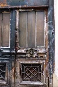 Interesting abandoned doors on rue de Saintonge in the 3rd arrondissement
