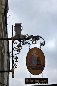 Master cheesemonger sign on rue de Bretagne