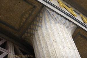 Capital detail on concrete column, Social & economic council, former Museum of Public Works, avenue d'Iena