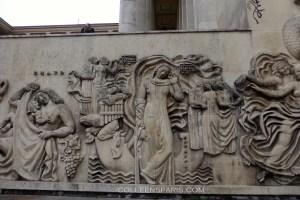 Bas-reliefs on Seine side of Palais de Tokyo of Alfred Janniot - Music