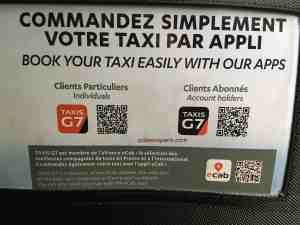 QR Code for Taxis G7 for individuals and accounts