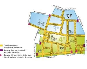 Example of Map for Paris Respire every Sunday; the Marais - more information http://www.paris.fr/parisrespire