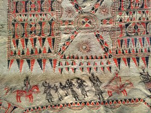 Painted hide (details) from the Northern Plaines in North America, 18th century, Carambolages RMN Grand Palais, Paris