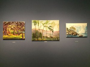 Painting as a Pastime, 2008, Gloria Friedman; First you see Adolf Hitler (waterfall); Next is Dwight Eisenhower (trees and mountains); Last is Winston Churchill (trees and shadows), Carambolages RMN Grand Palais, Paris