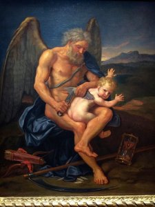 Time cutting the wings of Love, Pierre Mignard, 1694, Carambolages RMN Grand Palais, Paris