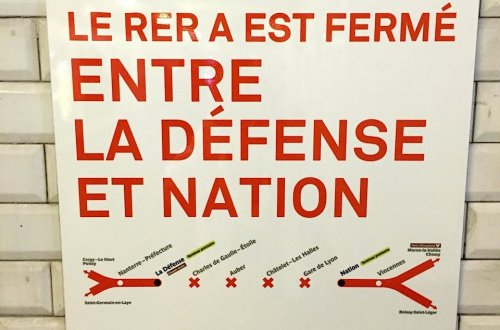 August 21, no service between La Défense and Nation alternatives available