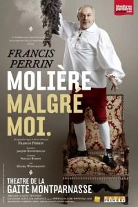 Poster for Francis Perrin Molière malgré moi at Theatre de la Gaite Montparnasse