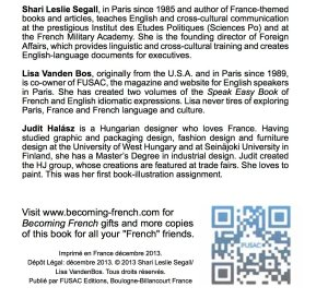 Author credits for 90+ Ways You Know You're Becoming French FUSAC Lisa Vanden Bos http://store.fusac.fr/ and QR Codes