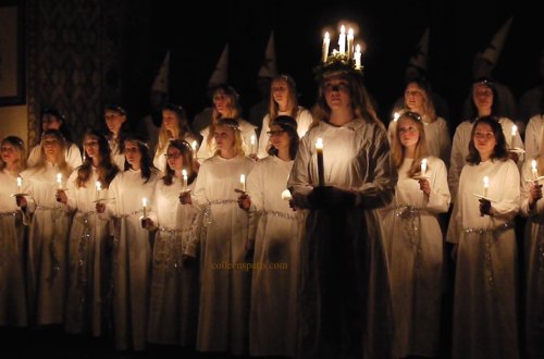 Choral procession and concert every December Svenska Kyrkan, Paris