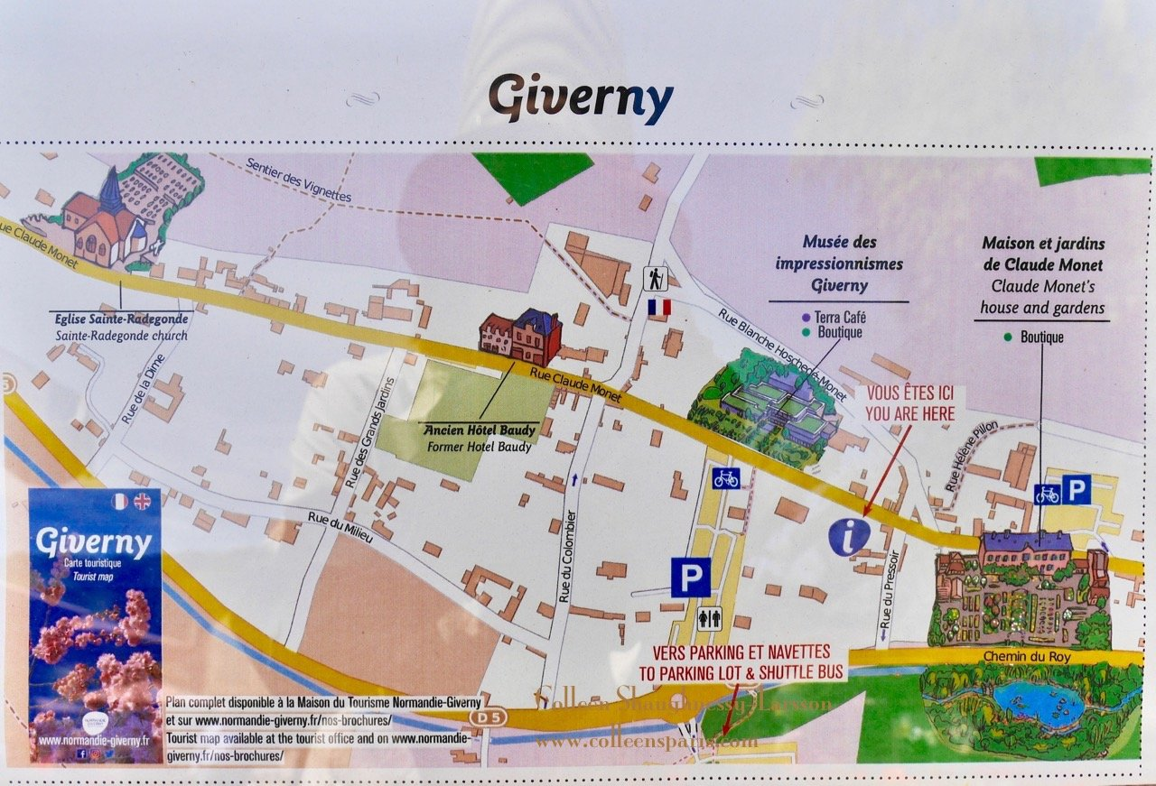 Map Of France Giverny.Day Trip To Giverny Via Vernon Colleen S Paris