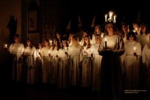 Swedish Church choir for Saint Lucie/Sankta Lucia music