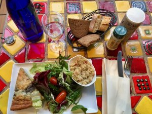 Tea Salon lunch Halle Saint Pierre Montmartre Paris during Caro/Jeunet exhibit